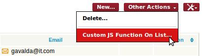 Custom Javascript Action on a List