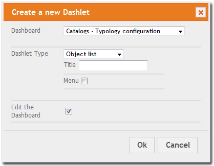Add To Dashboard Dialog