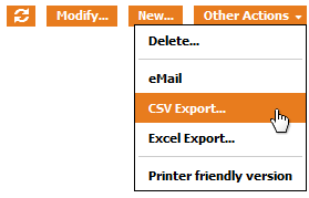 "the ""CSV Export"" Action"