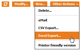 "the ""Excel Export"" Action"