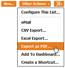 """Export as PDF..."" menu"
