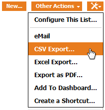Toolkit operation: CSV Export
