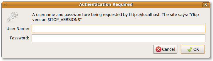 Basic Authentication Popup Dialog