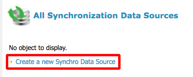 Synchronization Data Sources menu