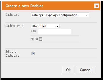 Add To Dashboard Dialog