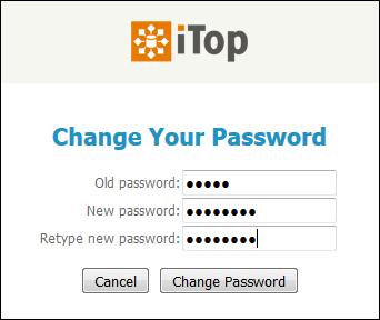 Change Password dialog