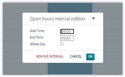 Open Hours Interval Edition