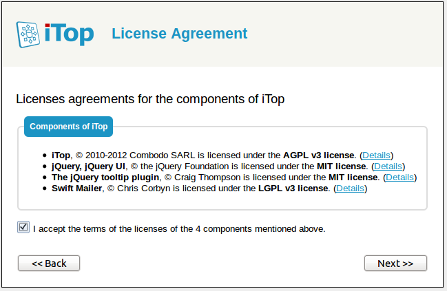 Step 3: License agreement