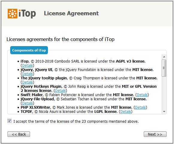 Step 3: License agreement