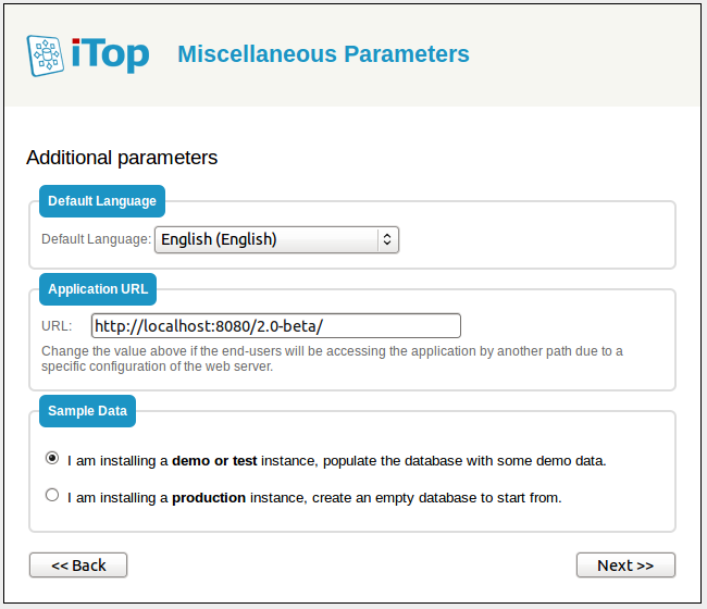 Step 6: Misc parameters
