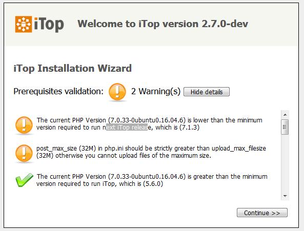 Step 1: Configuration check