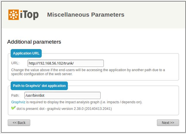 Step 6: Misc parameters