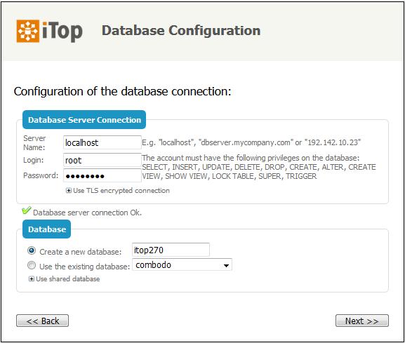 Step 4: Database info