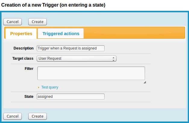 Fill the form to create the Trigger