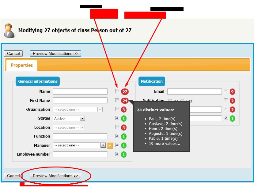 Bulk Modifications [iTop Documentation]