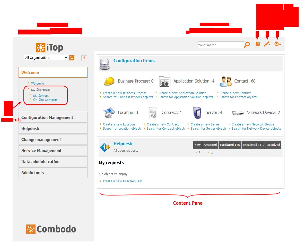 iTop Main Screen (click to enlarge)